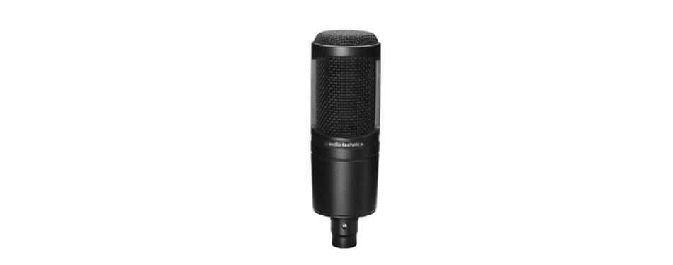 audio-technica at2020 cardioid studio xlr condenser microphone