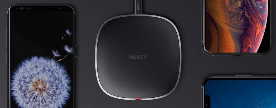 aukey qi wireless fast charging wireless pad
