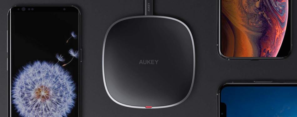 aukey qi wireless fast charging wireless pad