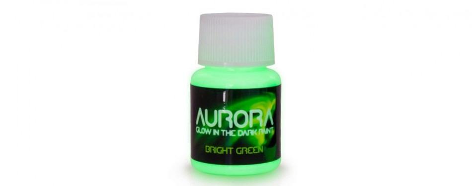 aurora bright green glow in the dark paint
