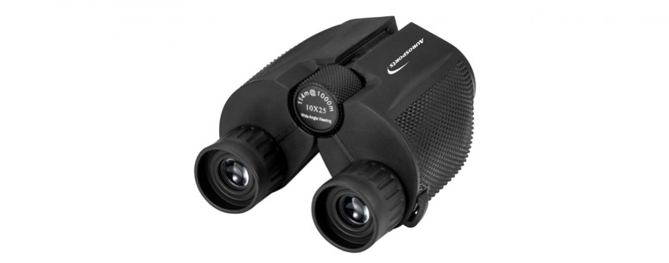 aurosports 10x25 folding high powered binoculars with weak light night vision