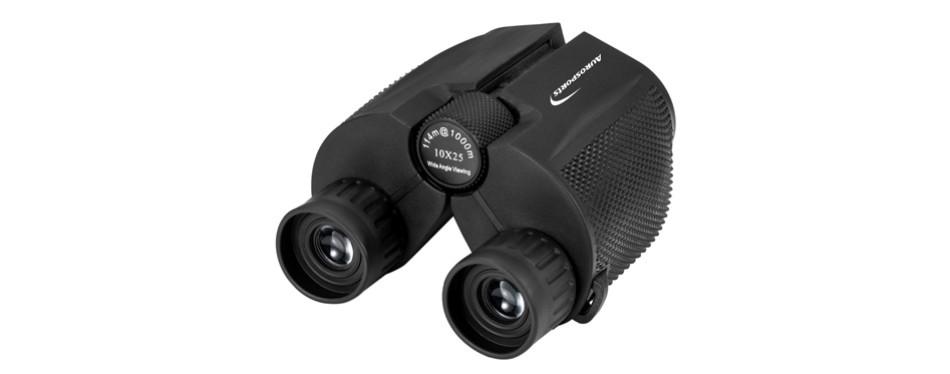 aurosports 10x25 folding high powered binoculars with weak light night vision
