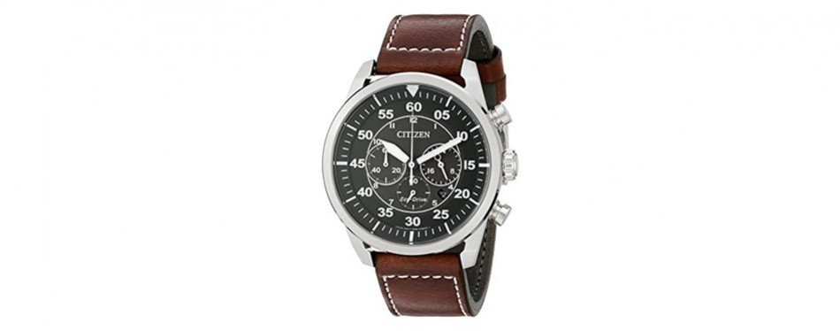 avion eco-drive stainless steel citizen watch