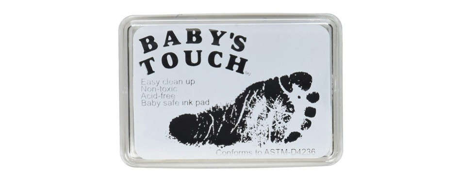 baby's touch safe reusable hand and footprint ink pads
