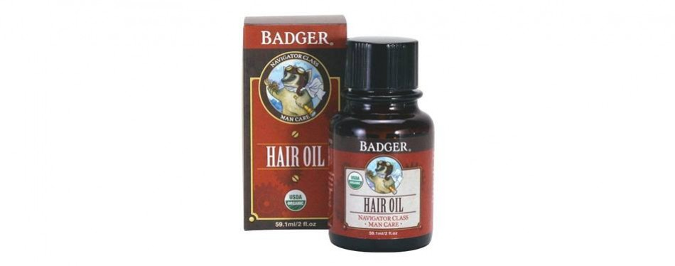 badger men's hair oil