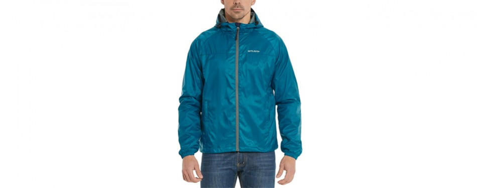 baleaf men's woven lightweight hooded running jacket