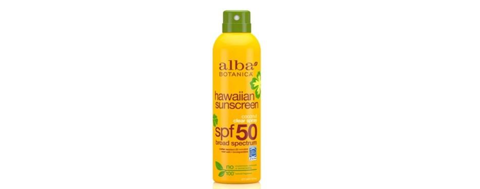 banana boat broad spectrum sunscreen spray spf 50
