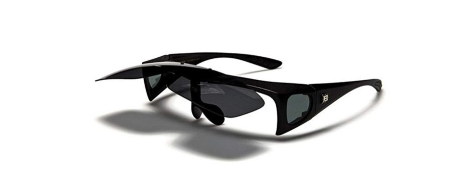 barricade polarized flip up fit over sunglasses