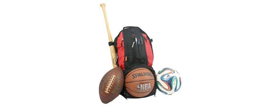 baseball backpack basketball football soccer ball storage helmet compartment