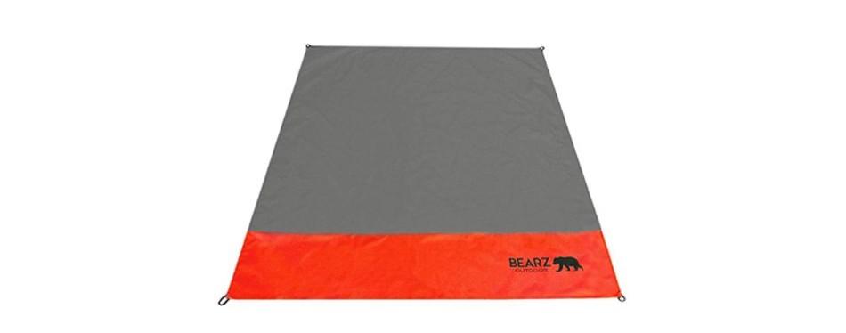 bearz outdoor beach camping blanket