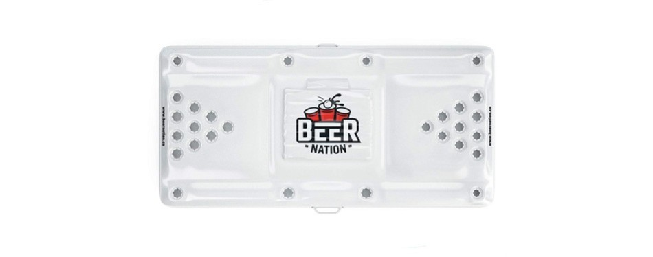 beer nation inflatable beer pong table and cooler