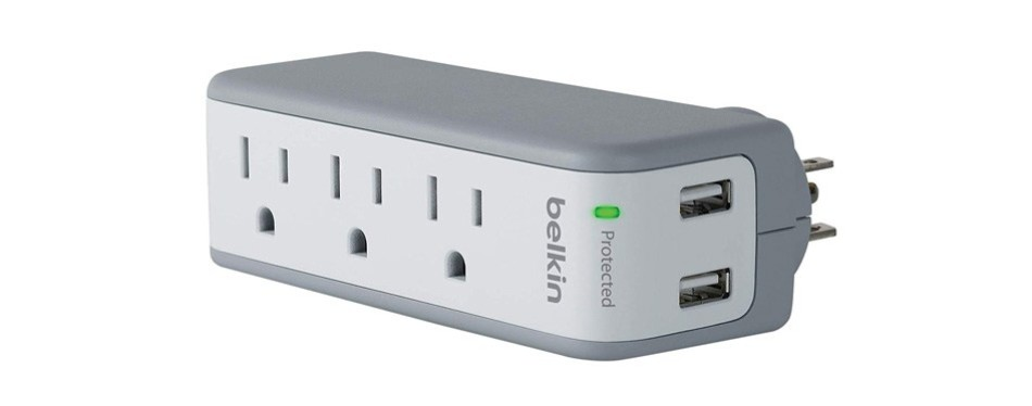 belkin surgeplus usb swivel surge protector and charger
