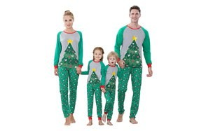 benaive matching family christmas pajamas set