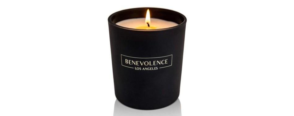 benevolence la scented candle aromatherapy rose & sandalwood