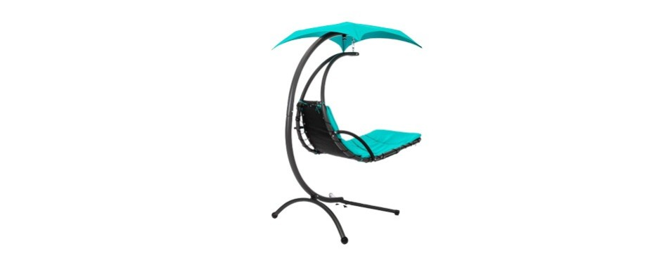 best choice outdoor hanging curved chaise lounge chair