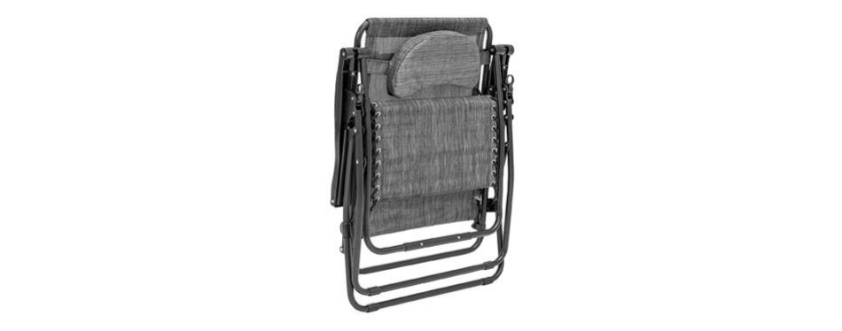 best choice products oversized mesh zero gravity recliner chair