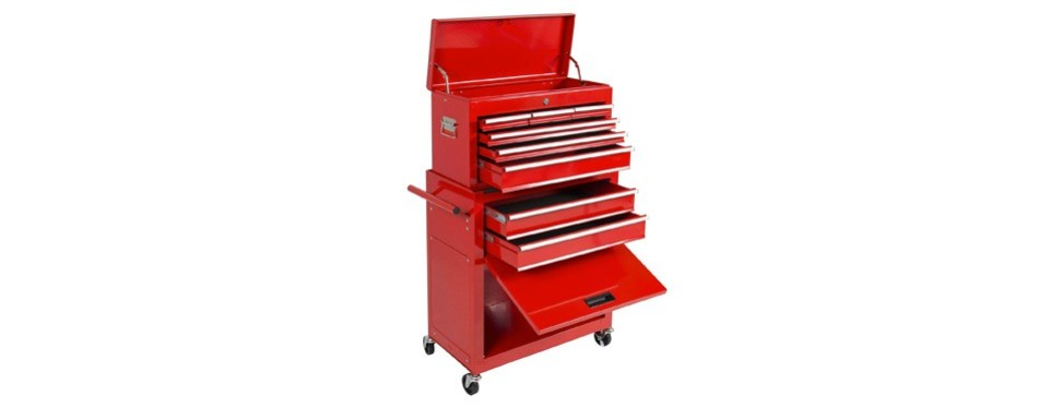 best choice products portable top chest rolling tool storage