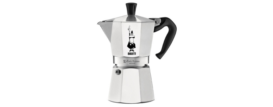 bialetti moka express 6-cup stovetop coffee percolator