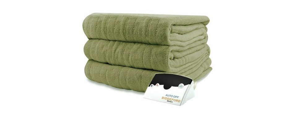 biddeford 2031-905291-633 microplush electric heated blanket