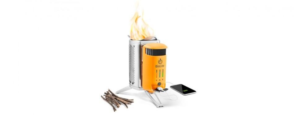 biolite wood burning & usb charging camp stove