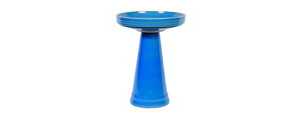 birds choice bellflower blue bird bath