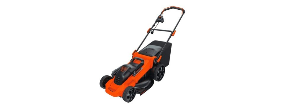 black+decker 13 amp corded mower