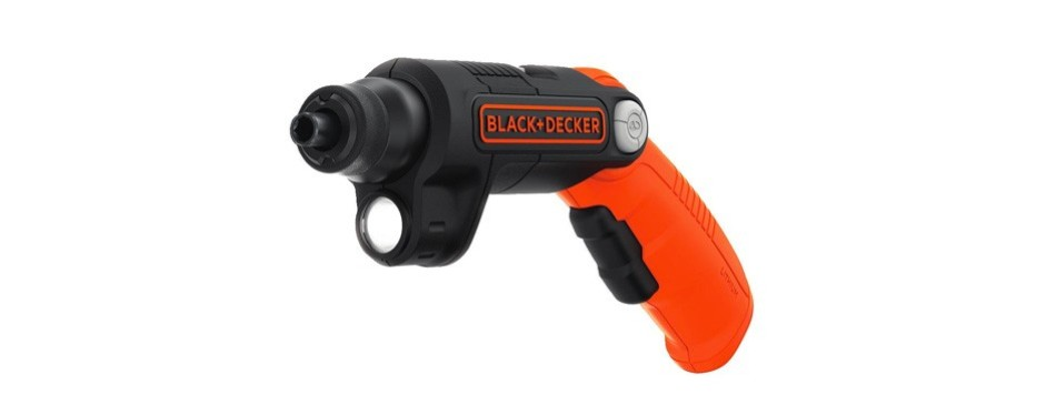 black+decker 4v max cordless screwdriver with led lights