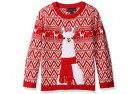 blizzard bay boys' llama christmas jumper