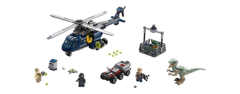 blue's helicopter pursuit lego jurassic world set