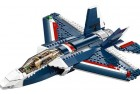 blue power jet lego creator set