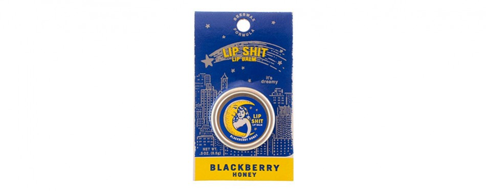 blue q lip shit lip balm-blackberry honey