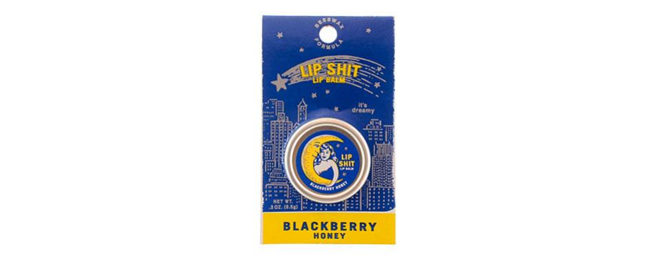 blue q lip shit lip balm-blackberry honey