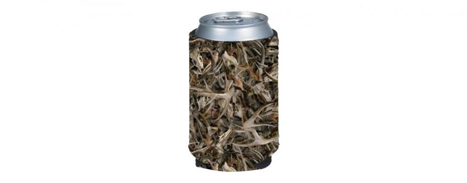 bonz hunting camo beer can koozie