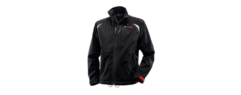 bosch men's 12-volt max lithium-ion soft shell heated jacket kit
