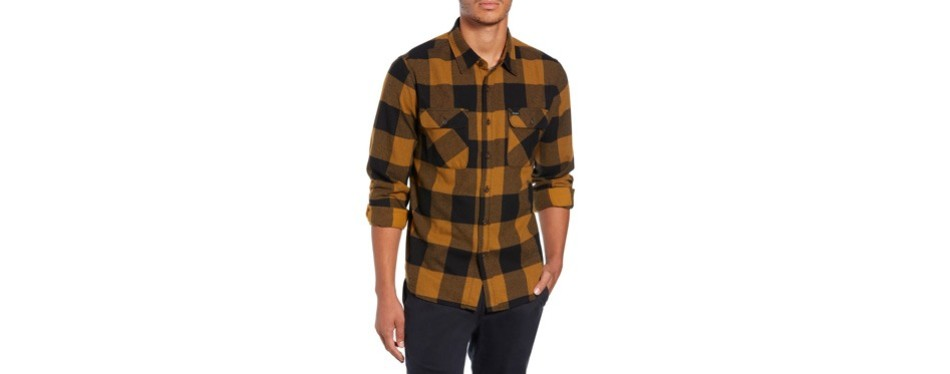 bowery buffalo plaid flannel shirt