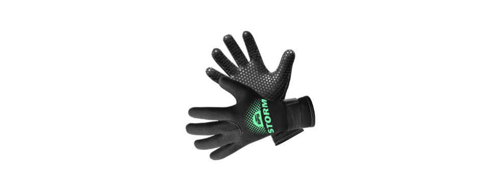 bps 3mm & 5mm double-lined neoprene wetsuit gloves