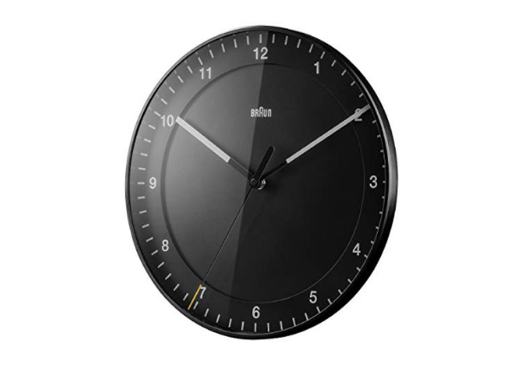 braun wall clock