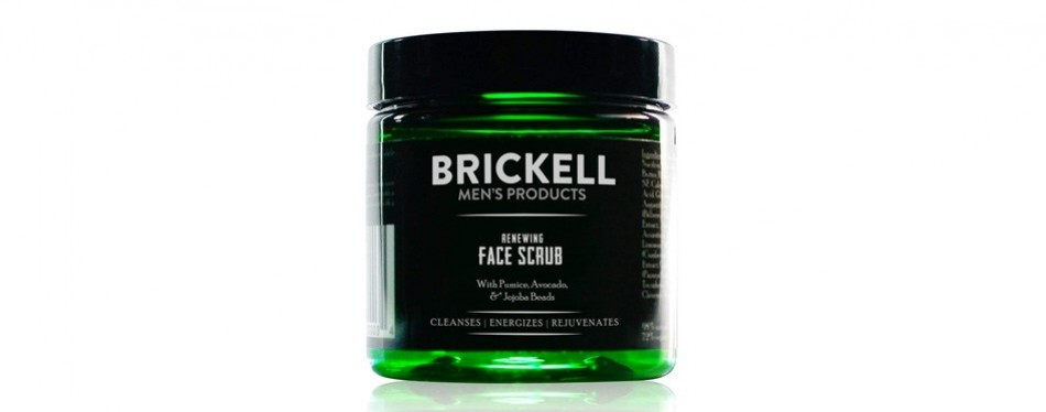 brickell men's renewing exfoliating facial scrub