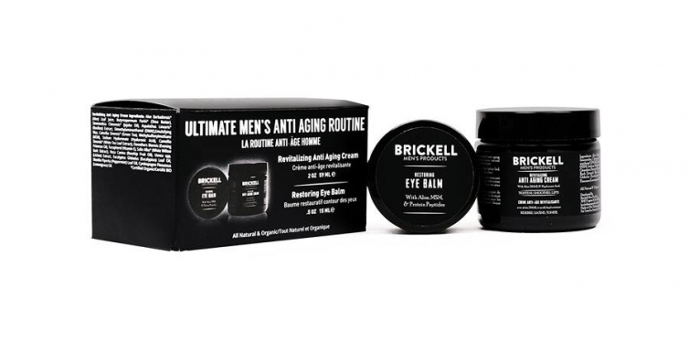 Brickell Men's Ultimate Anti-Wrinkle Night Face Cream and Eye Cream