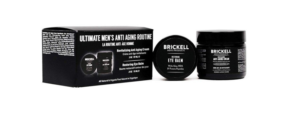 brickell men's ultimate anti-wrinkle night face cream and eye cream