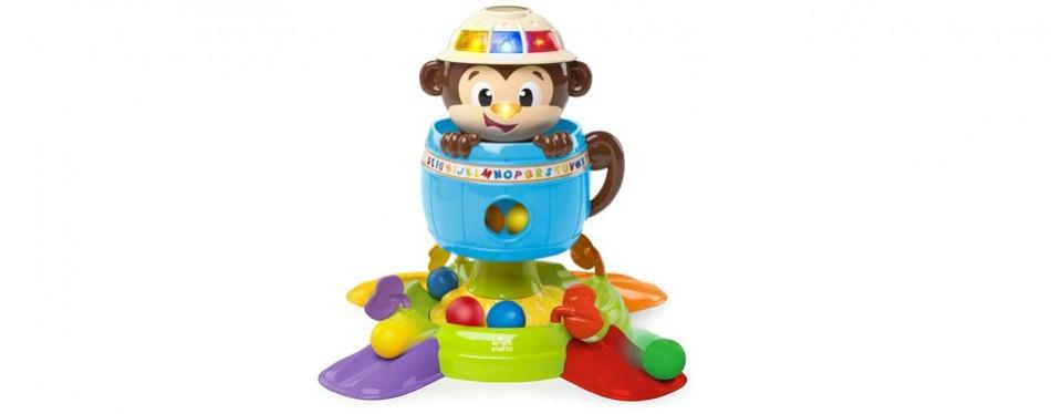 bright starts baby hide n spin monkey