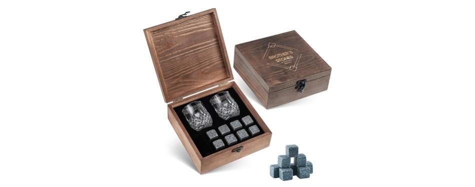 brotec whiskey stones gift set