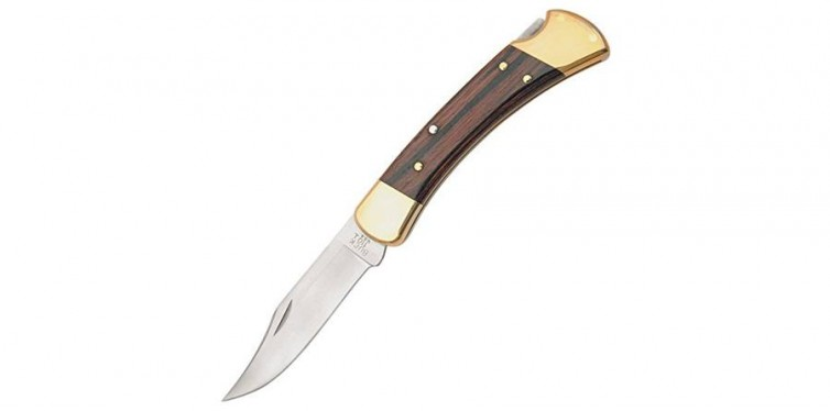 Buck Knives 110 Famous Folding Hunter Knife with Genuine Leather Sheath
