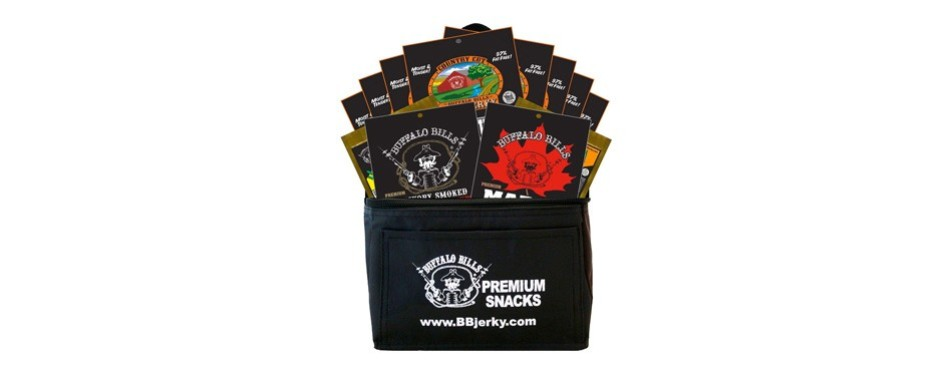 buffalo bills beef jerky sampler gift basket