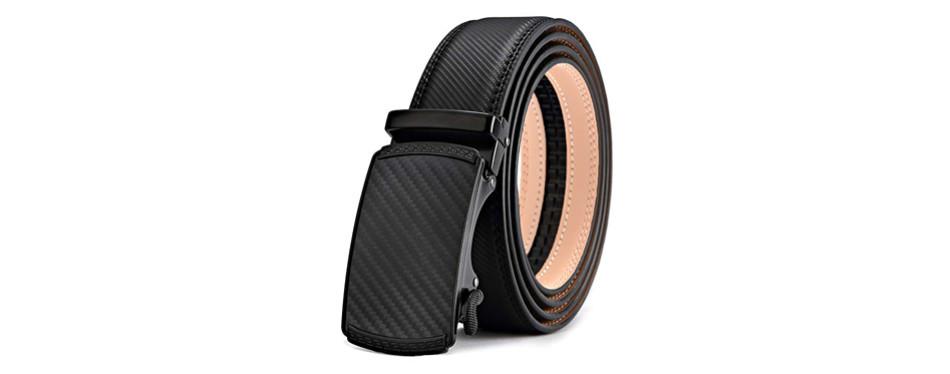 bulliant slide ratchet leather belt