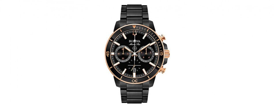 bulova men's marine star rose gold watch