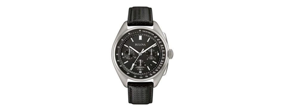 bulova men's 45mm special edition lunar pilot chronograph watch