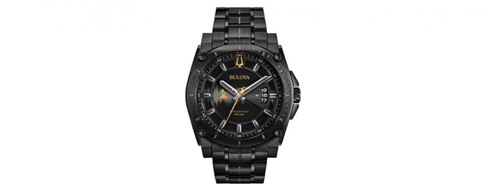 bulova men's grammy watch' quartz stainless steel casual