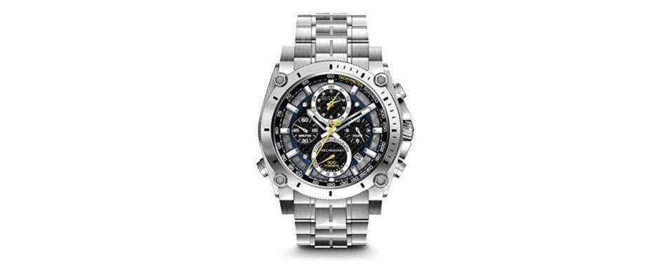 bulova men's precisionist stainless steel chronograph watch