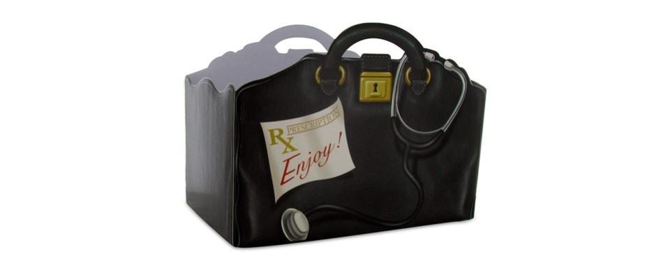 burton & burton get well doctor's bag gift box